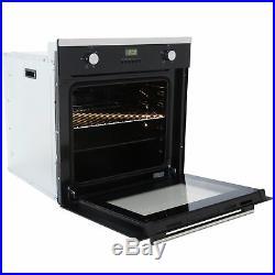 SIA SO102 60cm Black Built In Multi Function Electric Single True Fan Oven