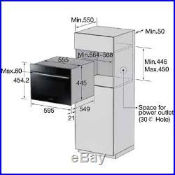 Samsung NQ50H5537KB Prezio Built In 60cm Electric Single Oven Black Glass New