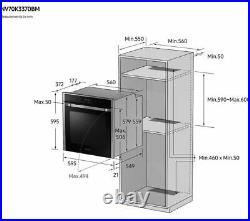 Samsung NV70K3370BM Built In Single Electric Oven in Black + Stainless PA0315