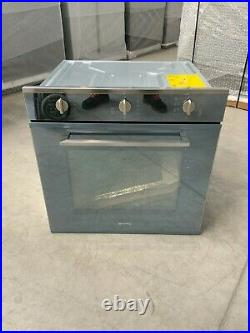 Smeg Cucina SF64M3TVS Built In Electric Single Oven Silver Glass A #LF25006