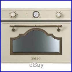 Smeg SF4750VCPO Cortina Built In 60cm Single Cavity A+ Steam Oven Cream / Brass
