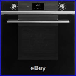 Smeg SF6100TVN1 Linea Built In 60cm A Electric Single Oven Black New