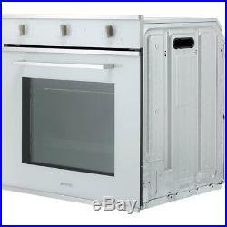 Smeg SF64M3VS Cucina Built In 60cm A Electric Single Oven Silver Glass New