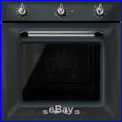 Smeg SF6905NO1 Victoria Built In 60cm A Electric Single Oven Matt Black New