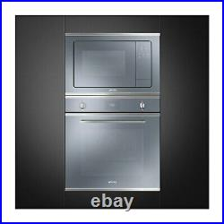 Smeg SFP6401TVS1 Cucina Multifuction Single Oven With Pyrolytic Cleaning Silve