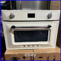 Smeg Victoria SF4920MCP1 Built In Compact Electric Single Oven with Microwave