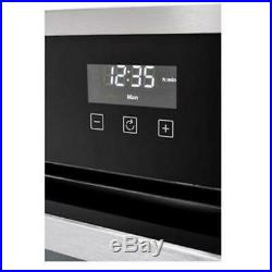 Stoves BI600G 60cm Built In Gas Single Oven & Electric Grill, Clock Black
