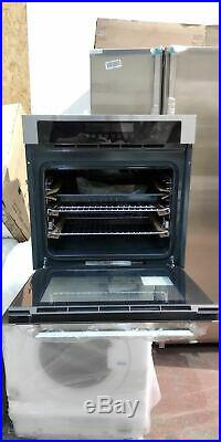 Stoves SEB602TCC A Rated Built In Electric Single Oven, Black / Silver