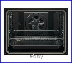 Zanussi ZOPNX6X2 Electric Single Oven Integrated Black/Stainless Steel 72L A+